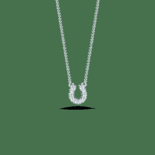 18KT Diamond Horseshoe Pendant Necklace