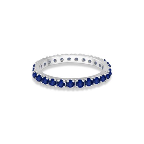 18KT Blue Sapphire Eternity Band