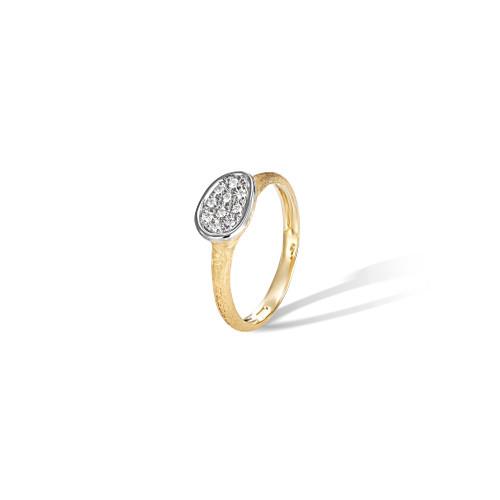 18KT Diamond Petite East West Ring