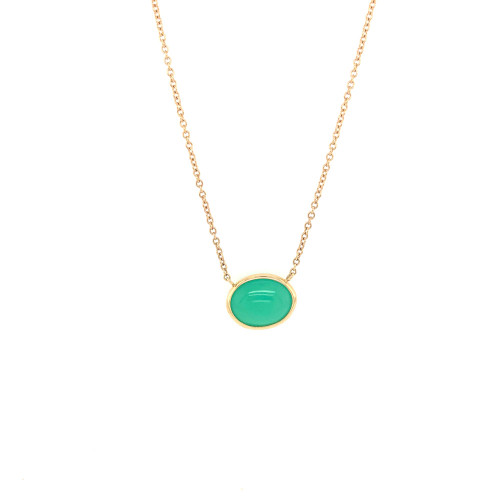 Chrysoprase Cobblestone Cable Link Chain