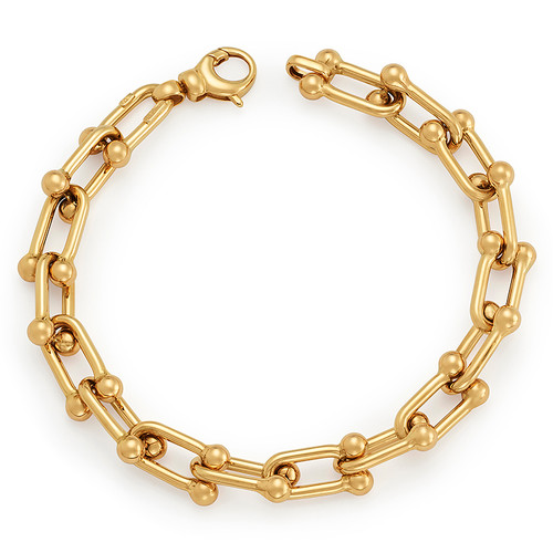 14KT Shiny Fancy Link Chain Bracelet