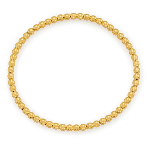14KT Stretch Bead Bracelet
