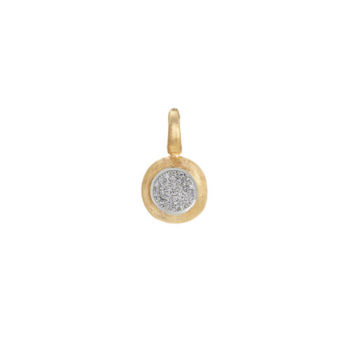18KT Small Pave Diamond Pendant