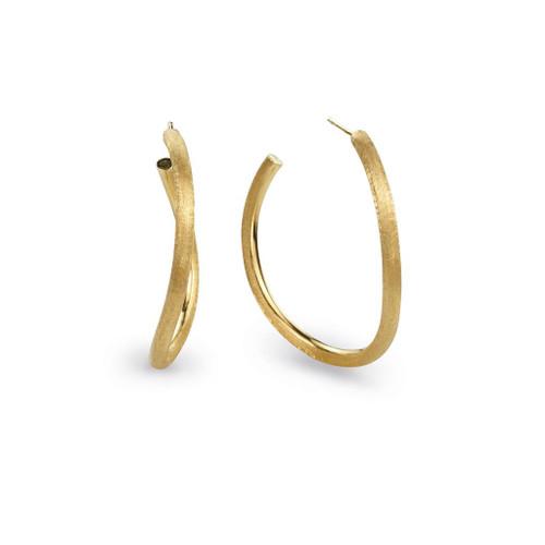 18KT Medium Link Hoop Earrings