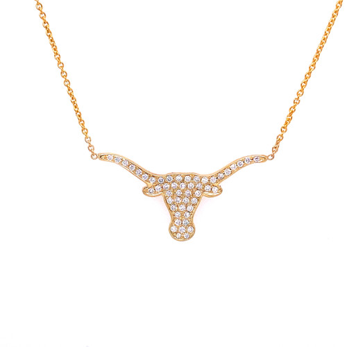 Medium Diamond Longhorn Necklace