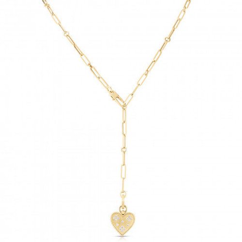18KT Small Heart Medallion Necklace