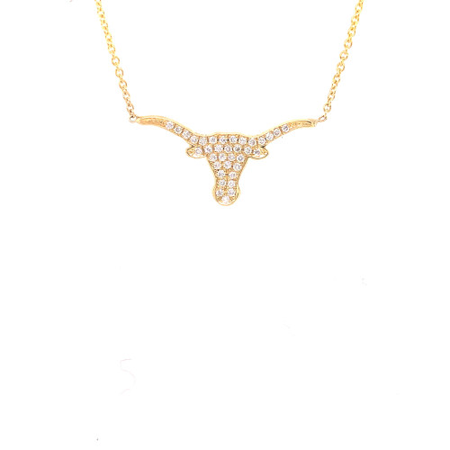 Small Diamond Longhorn Necklace