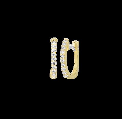 18KT Tiny Diamond Hoop Earrings