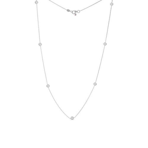 18KT Seven Station Diamond Necklace