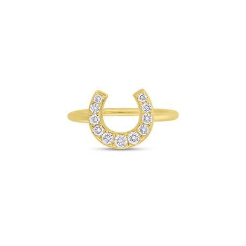 14KT Diamond Horseshoe Ring