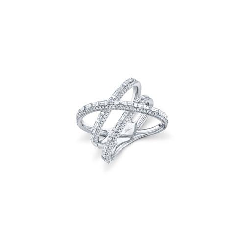 14KT Diamond Bridge Ring