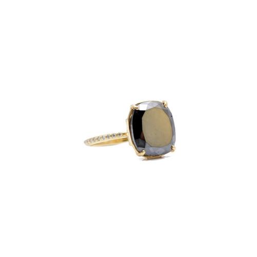 18KT Rustic Diamond Statement Ring
