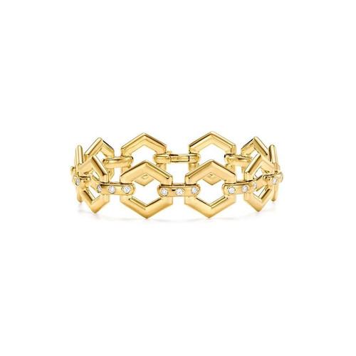 18KT Beehive Link Bracelet