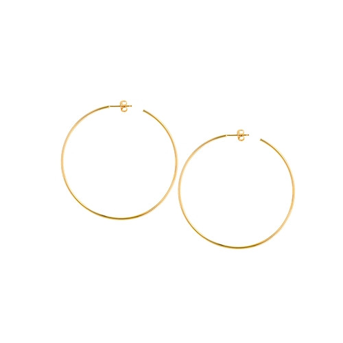 14KT Large Thin Hoops