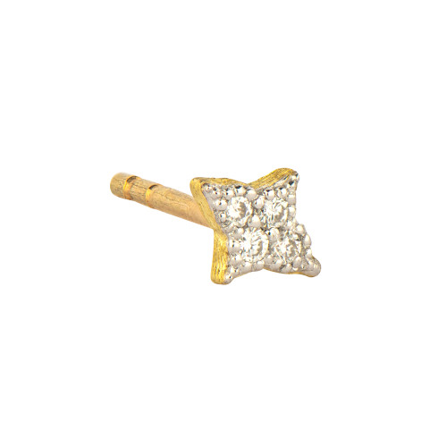 18KT Petite Diamond Quad Stud
