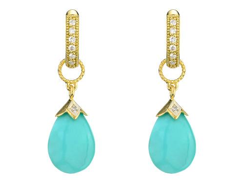 18KT Pear Briolette Earring Charms