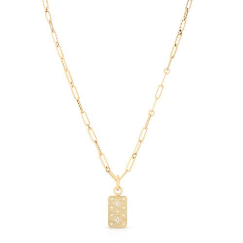 18KT Venetian Princess Dog Tag Necklace