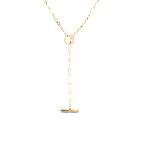 18KT Oro Classic Toggle Necklace