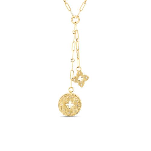 18KT Venetian Princess Double Medallion Necklace