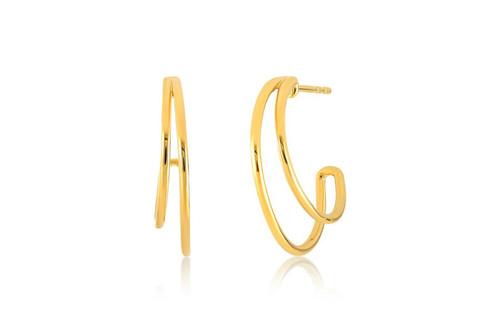 14KT Double Hoop Earring