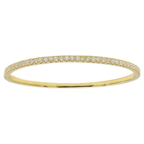 18KT 0.82 Diamond Bangle Bracelet