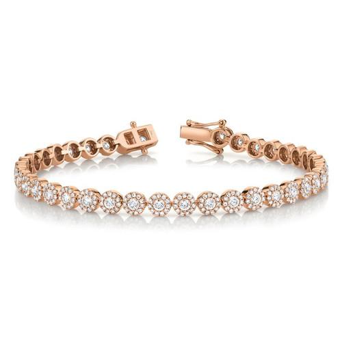 14KT Small Diamond Halo Bracelet