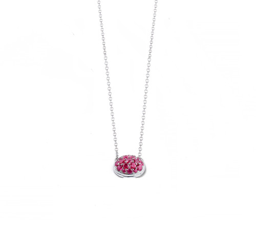 """""""Pave"""" Oval Pendant in Rubies"""