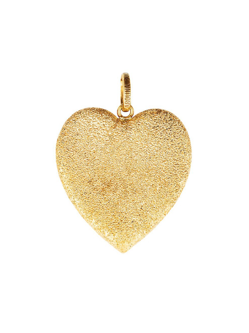 Florentine Finish Heart Pendant