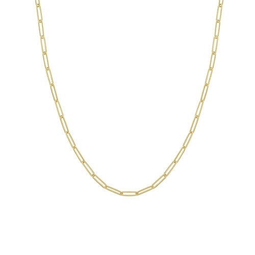 3.9mm Yellow Gold Paper Clip Chain