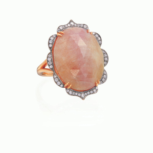 Rustic Fancy Sapphire Ring