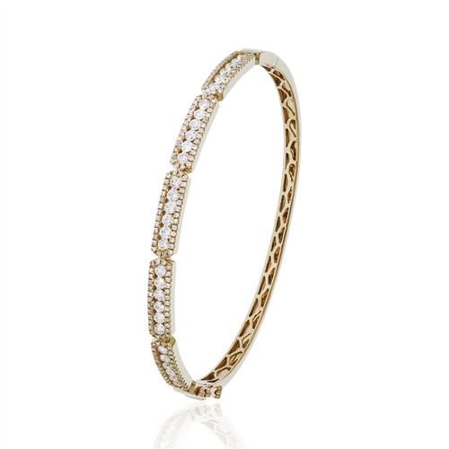 14KT Diamond Art Deco Bangle Bracelet