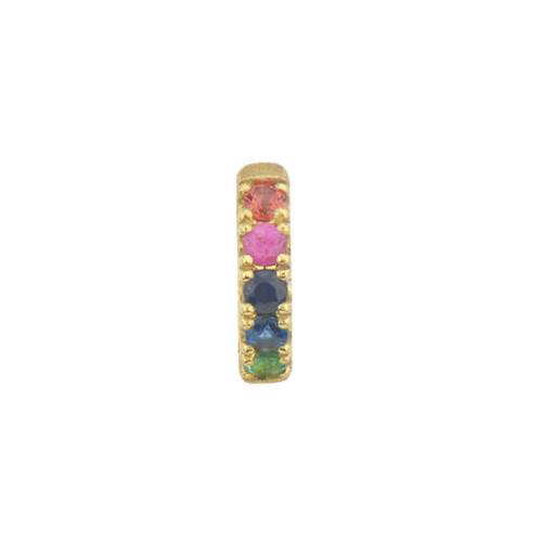 Petite Rainbow Sapphire Huggie Earring