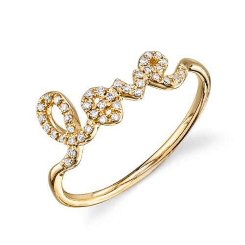 "Small Diamond ""LOVE"" Ring"