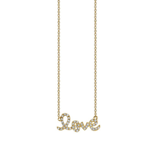 14KT Love Script Necklace