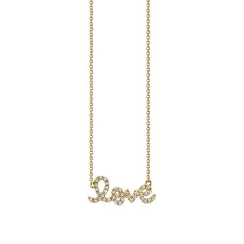 14KT Love Script Necklace