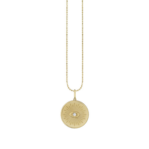 Marquise Eye Coin Necklace