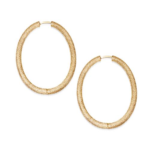 Florentine Thick Oval Hoop Earrings
