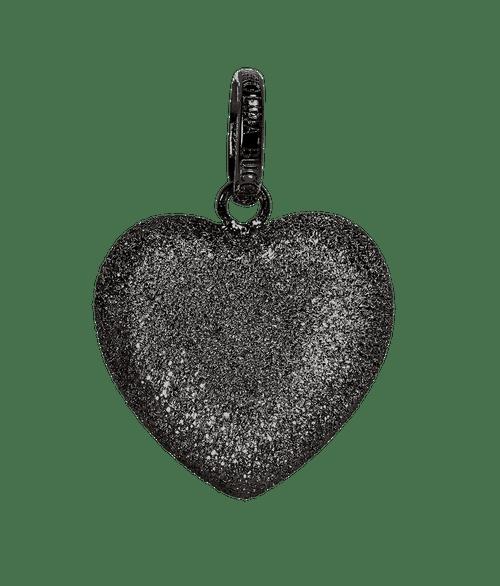 Black Gold Small Florentine Heart Pendant