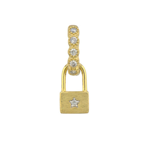 Diamond Padlock Earring Charm