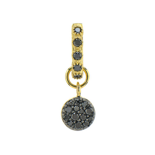 Pave Black Diamond Charm