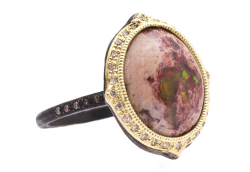 Mexican Fire Opal Cabochon Ring