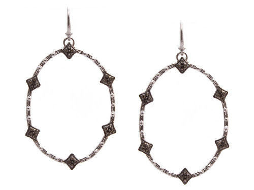 NW/MN Crivelli Open Oval Earrings