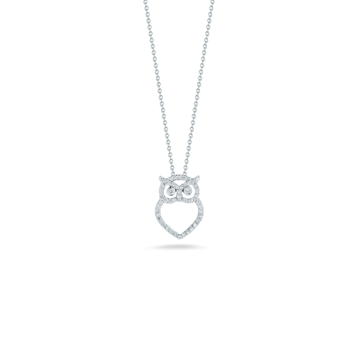 Diamond Owl Necklace