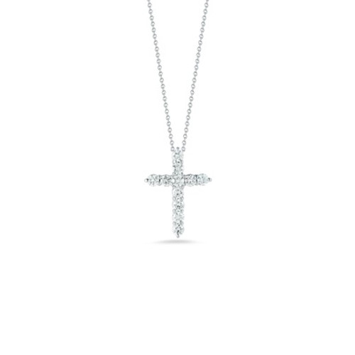 18KT White Gold Cross Necklace