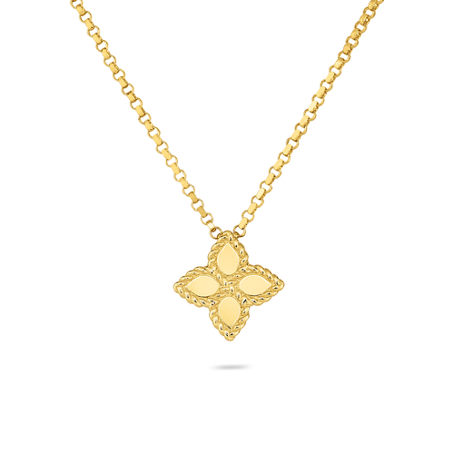 18KT Small Princess Flower Necklace