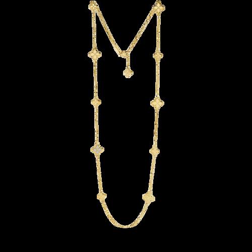 Diamond Princess Flower Necklace