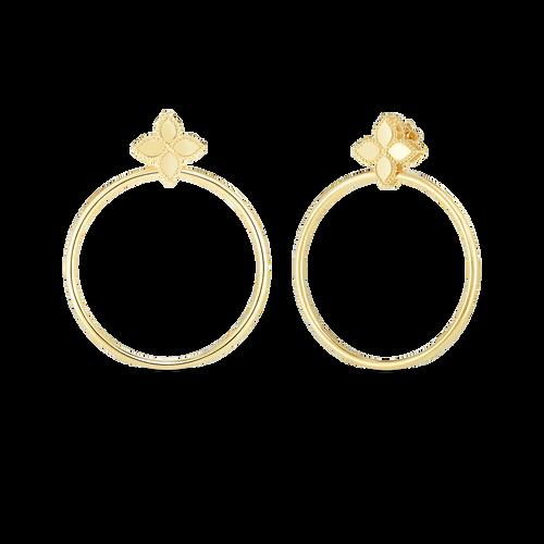 18KT Princess Flower Hoop Earrings