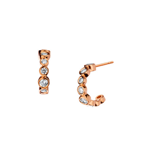 Rose Gold Mini Hoop Earrings