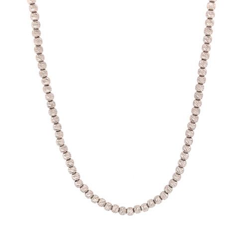 White Gold Short Disco Ball Necklace