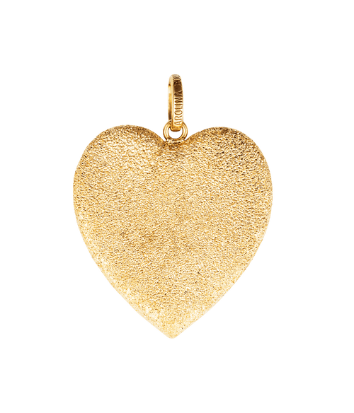 Yellow Gold Small Florentine Heart Pendant